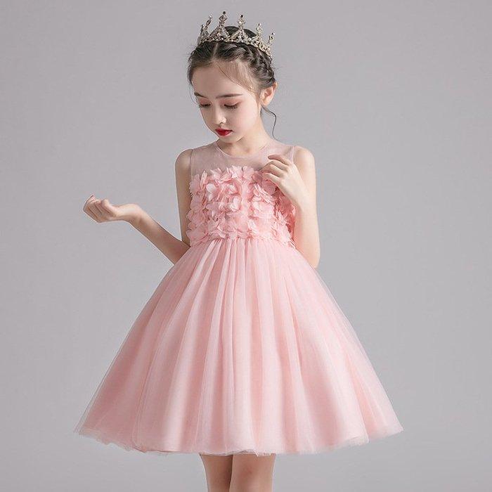 •*~ 辣媽咪衣飾小舖 ~*•❤童裝系列❤K970495韓版大童夏款甜美清新時尚蓬蓬蕾絲亮片可愛公主禮服公主洋裝