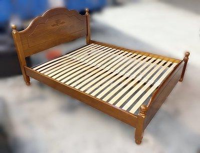 台中二手傢俱推薦 宏品全新中古家具 電器 B70911*實木5尺床架*鏡台 庫存臥室床組 沙發 餐桌 冰箱 洗衣機 電視