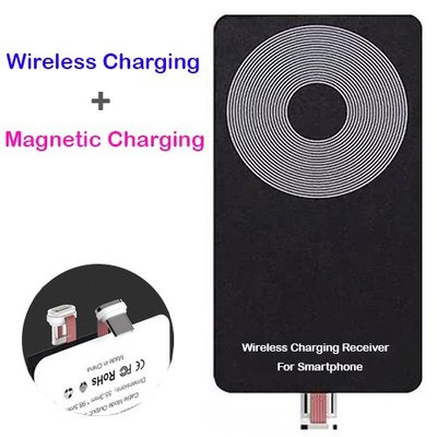 IB 奇點生活 + USB Type C 磁力吸附無線充電接收貼 + 2米磁力吸附線
