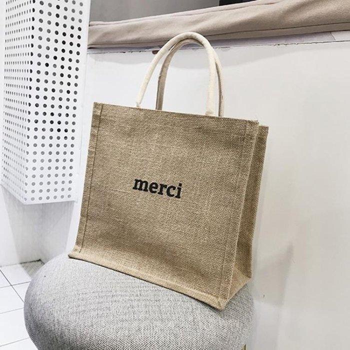 手提帆布包大容量韓版書包時尚麻布包a4文件包公事包--樂購一丁