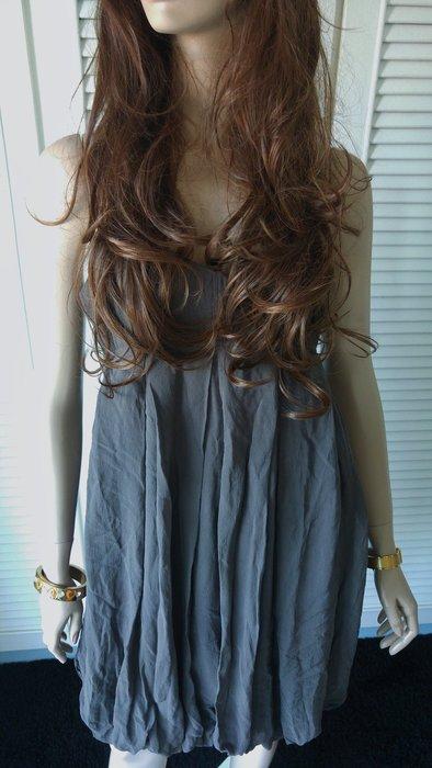 【CLUB MONACO 】鐵灰色細肩帶高腰洋裝