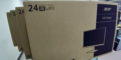 【聯暘電腦】~ $3090(含稅)~ Acer KA241Y 24型 VA 薄邊框廣視角電腦螢幕 HD(有店面,可自取)
