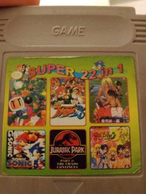 大媽桂二手屋,任天堂Game Boy Color,GBC遊戲片22 in 1,22合一卡,遊戲卡帶,卡匣,兒時回憶,值得珍藏