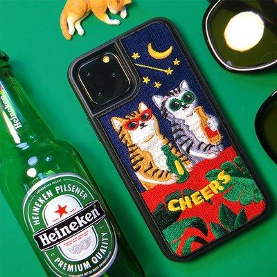 新款wiggle wiggle蘋果刺繡手機殼iPhone12\/pro\/mini\/max全包防摔韓國