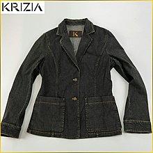 日本二手衣✈️KRIZIA 彈性 牛仔外套 大口袋 單寧牛仔 修身外套 日本 牛仔衣 三陽商会女裝 42号 AF511K
