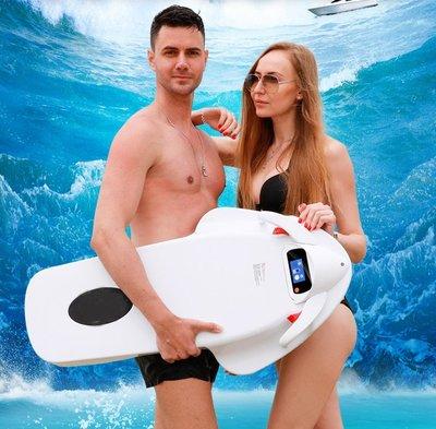 成人新款動力游泳浮板救生圈電動助力衝浪滑板劃水漿板水上推進器