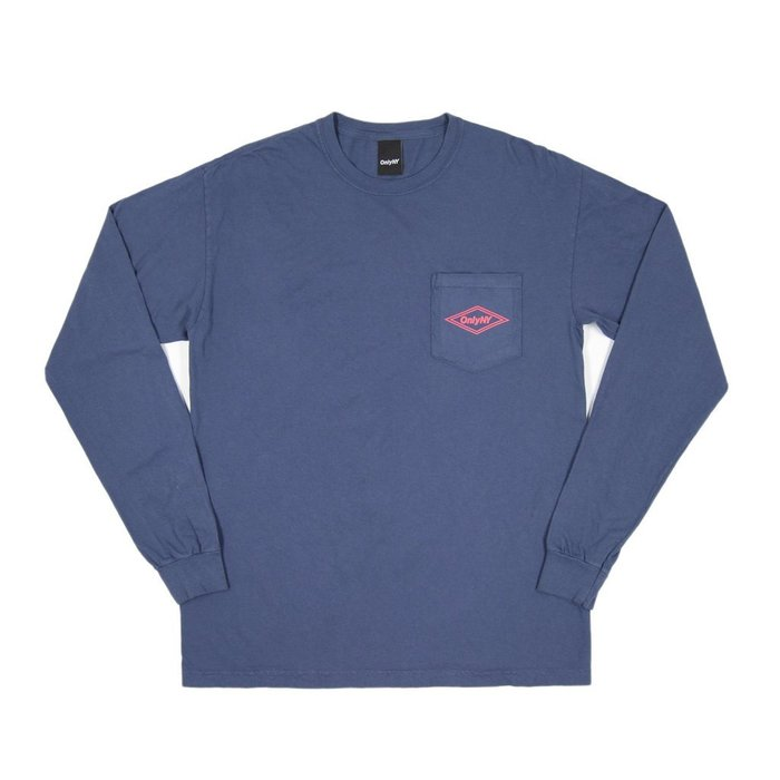《 Nightmare 》ONLY NY Diamond L/S T-Shirt - Vintage Blue