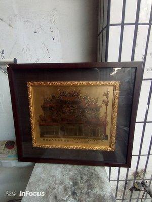 早期東港鎮東隆宮的紀念相框一副,53x63cm,非常希少
