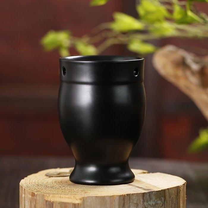 雙層艾灸罐陶瓷艾灸杯魔灸罐非砭石扶艾灸盒隨身灸溫灸罐陽刮痧杯