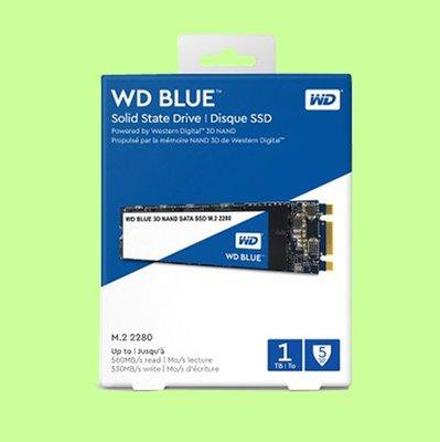 5Cgo【聯強】WD SSD Blue 1TB 1T固態硬碟3D TLC;SATA3 M.2 WDS100T2B0B含稅