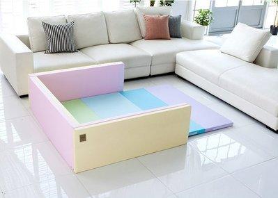 韓國直送 正品代購 Caraz 城堡圍欄 原裝 嬰兒床 地墊 嬰兒床 小床 遊戲墊高CP值 大推款 灰白色 馬卡龍色