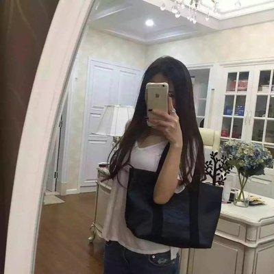 ╭☆包媽子店☆LACOSTE 深藍色單肩包/購物包 大號