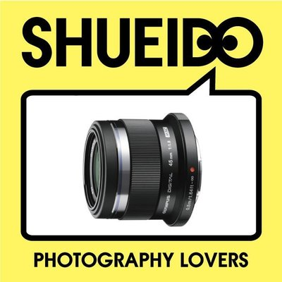 集英堂写真機【全國免運】【預購】OLYMPUS M.ZUIKO DIGITAL MZD 45mm F1.8 鏡頭 黑 B