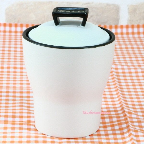 點點蘑菇屋{密封罐}義大利WALD生活廚房系列白色霧面高溫陶瓷收納罐 置物罐 現貨
