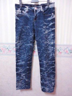 一元起標~DIAMOND CUT~電繡口袋設計刷色牛仔褲~SIZE:S