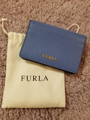 100%Real 100% New Furla leather card holder
