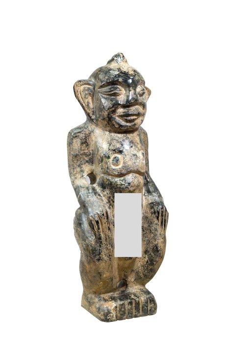 《博古珍藏》隕石男祖神擺件.23.5公斤.紅山文化文物.皮殼厚實.收藏多年.感恩特賣會.超值回饋