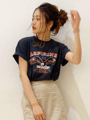 【預購】日本連線Ungrid春夏20新入荷イーグルプリントTee定番必收美式老鷹印畫圓領短T恤BEAMS MOUSSY*