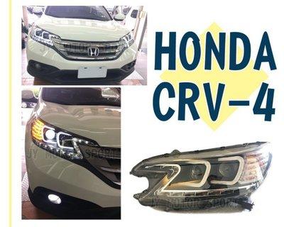 小傑車燈精品--全新 CRV 2013 2014 15 CRV 4 代 黑框 雙C 類R8燈眉 光圈 魚眼 大燈 頭燈