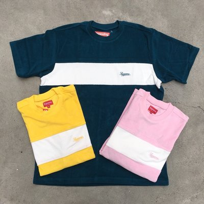 ☆LimeLight☆ Supreme Chest Stripe Terry Top 深藍M 黃M