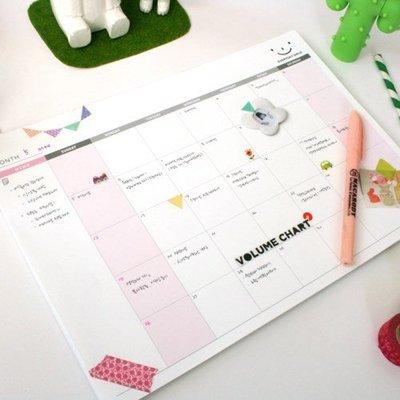 Ξ ATTIC Ξ 韓國Plan D~ Monthly Desk Note Pad 微笑記號 月行事曆/筆記本/月計畫