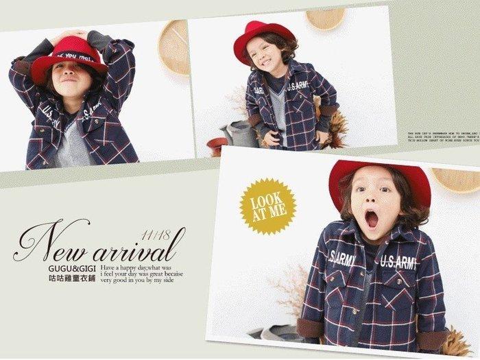【RB5110332】秋冬款~U.S.ARMY紅藍白格紋襯衫(可當外套)$188