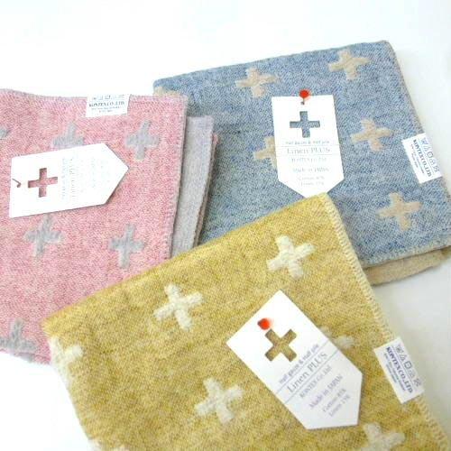 《散步生活雜貨》日本製  Kontex Linen Plus 今治 棉麻 32cm 小毛巾 方巾 手帕-兩色選擇
