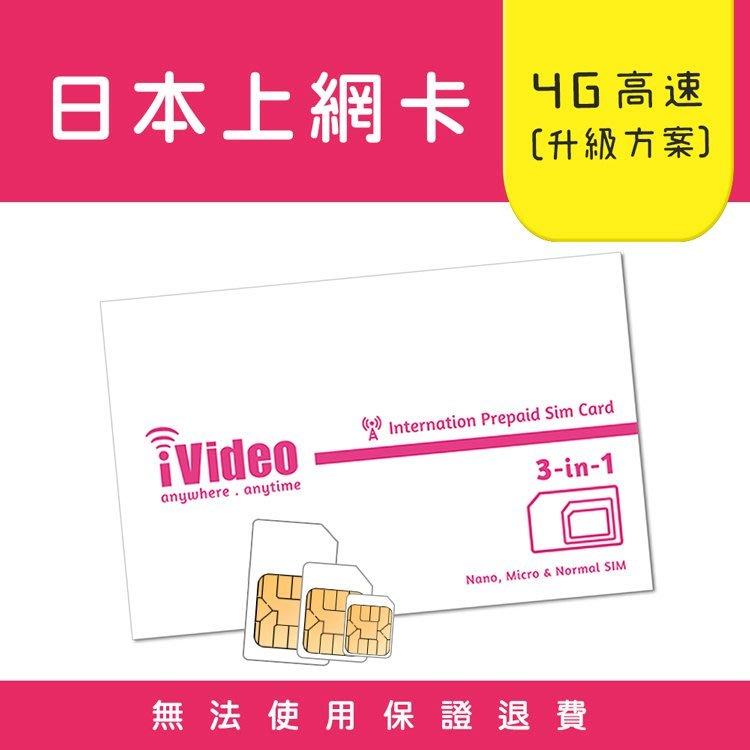 日本上網卡 日本SIM卡 10天 無限流量 吃到飽 每加1天只要38元 (天數任選)