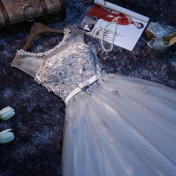 5Cgo【鴿樓】會員有優惠 520921705108 新娘結婚禮服婚禮敬酒服時尚長款蓬蓬裙主持人禮服宴會禮服 伴娘服