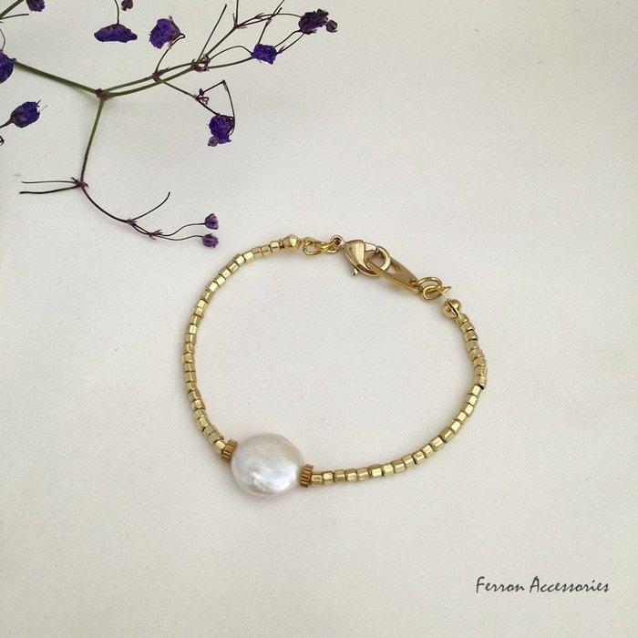 Ferron Accessories 琺隆  F60 呢喃珍珠系列黃銅手鍊