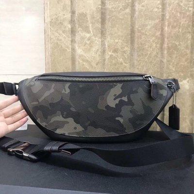 【全球精品代購鋪】COACH 76845 12月新款 男士運動型 迷彩皮革腰包 胸包 購美國代購Outlet專場 可團購