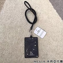 Melia 米莉亞代購 COACH 2019ss 識別證套 證件套 悠遊卡套 F30251 基本款 黑色 星空圖案