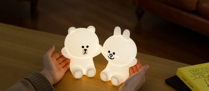 韓國超熱賣 HUG ME LED LAMP  熊大/兔兔小夜燈(一組2隻)