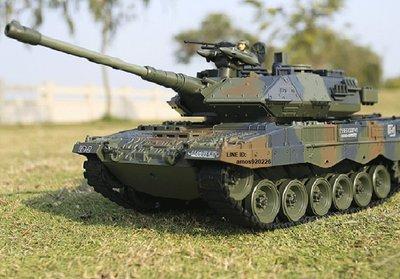 德國 遙控 豹二A6 戰車 搖控 坦克 紅外線瞄準 發射BB彈 前進三檔 後退兩檔 迷彩 軍綠(恆龍 M1A2 參考) 新竹市