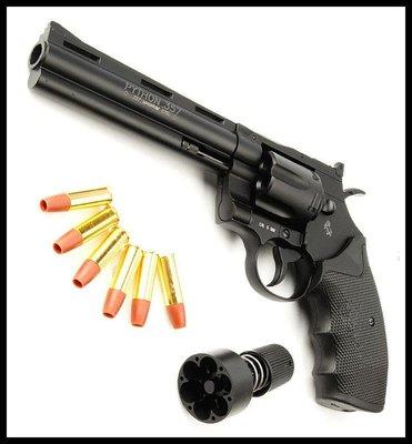 【原型軍品】全新 免運 KWC PYTHON M357 6吋 左輪 手槍 金屬 CO2 直壓槍 無刻字