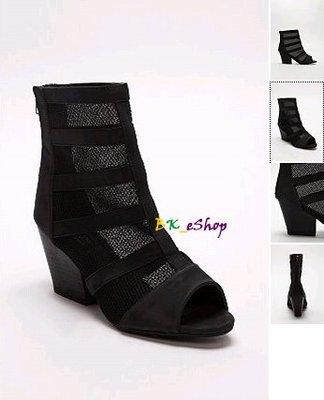 【美衣大鋪】☆ urban outfitters 正品☆Peep-Toe Mesh Heel 短靴~UO