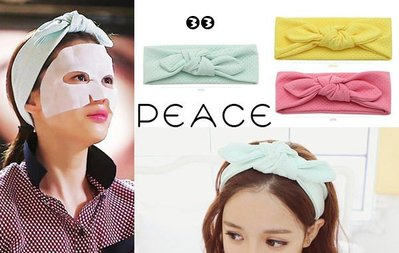 ~PEACE33~正韓國空運 ~髮飾飾品 Renachris 來自星星的你 全智賢蝴蝶結小點髮帶 髮圈 髮箍~薄荷
