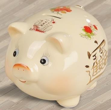 【蘑菇小隊】擺件 裝飾擺件超大陶瓷豬創意生日禮品可愛招財成人兒童零錢儲蓄存錢罐-MG67990