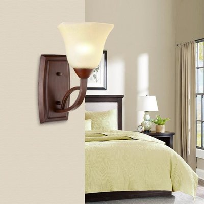 美式壁燈復古鐵藝簡約鄉村客廳背景牆過道臥室深色創意床頭燈63    ATF