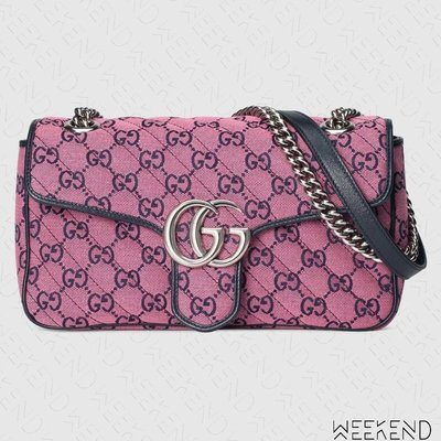 【WEEKEND】 GUCCI GG Small Marmont 小款 肩背包 粉色 443497