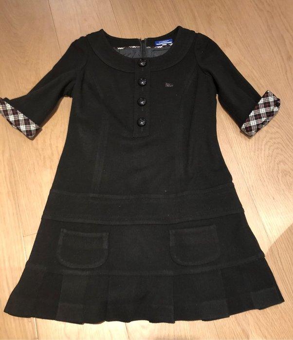 Burberry blue label 日本藍標 五分袖黑洋裝