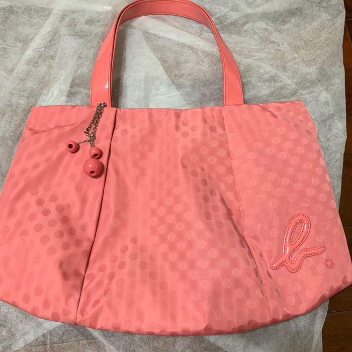 《免運商品》Agnes b. 側背包 粉紅色 日本帶回 二手 保證正貨