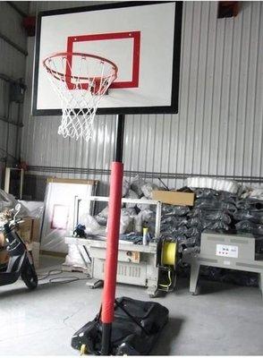 升降(昇降六段高低調整)籃球架(FRP) 灌水式 籃球框 籃球網