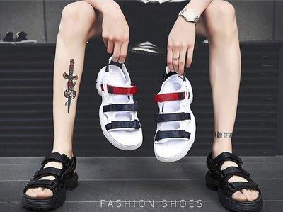 熱賣款 兩雙九折 FILA Disruptor2  鋸齒款 厚底增高涼鞋 沙灘鞋 海灘涼拖鞋 韓版 男女涼拖 白藍紅