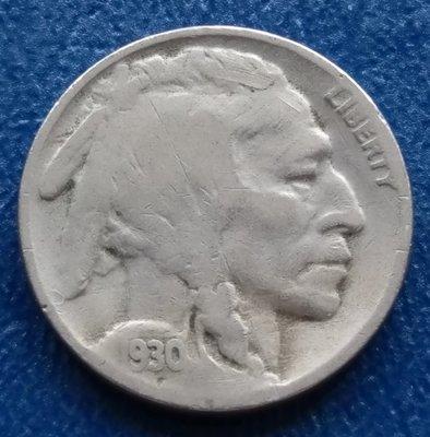 美國   印地安    5分   1930-S    鎳幣  水牛  野牛     280-319