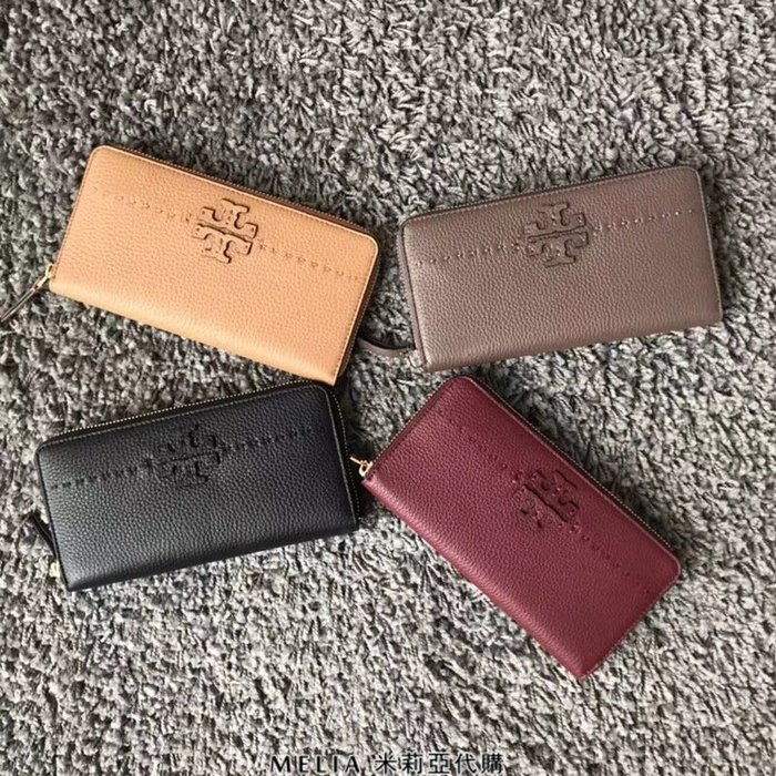 Melia 米莉亞代購 Tory Burch 2018年款 皮夾 長夾 經典款 高貴不貴 可放多卡 零錢 手機 四色任挑