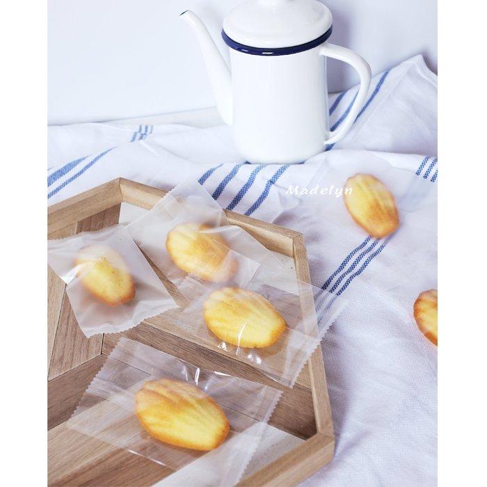 【berry_lin107營業中】瑪德琳費南雪包裝袋 綠豆糕 透明/磨砂機封袋 7*12cm