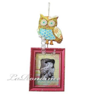 【芮洛蔓 La Romance】貓頭鷹吊飾相框 - B / 動物相框 / 可愛造型相框