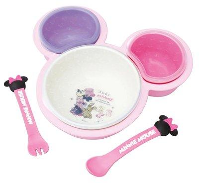 ♡fens house♡  迪士尼 米妮 minnie 離乳餐具組 餐盤 湯匙 叉子 飯碗 盤子 6件組~ 製