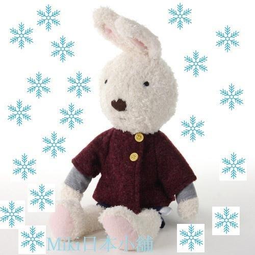 *Miki日本小舖*日本Le Sucre 法國兔 紅色呢絨大衣造型 娃娃玩偶 (大)